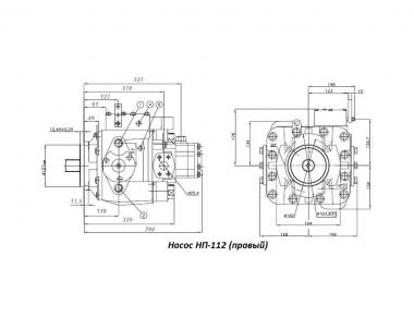 Насос аксиально-поршневой НП-112 (правый, вал 23 шлица)