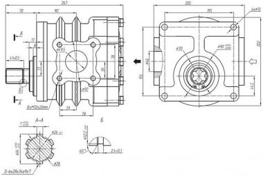 Насос шестеренный НШ 100А-3 (правый)