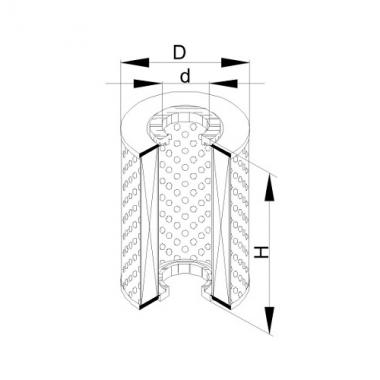 Фильтр маслянный ЭФМ-007 (Волга 32, Р-460, 473.00.00)