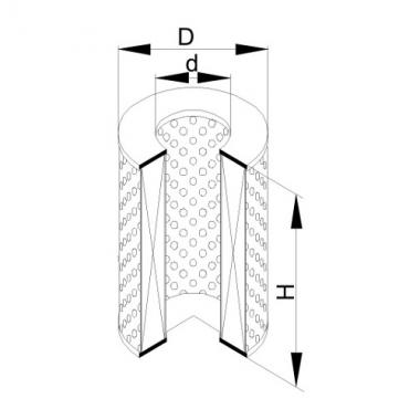 Фильтр маслянный ЭФМ-041 Г (Р-605Г-1-05)