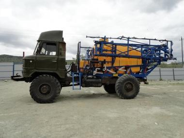 Опрыскиватель самоходный на ГАЗ-66,   ЗАРЯ-ОМГ-2500-24-03Ф